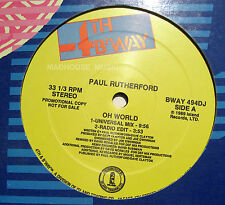 """FRANKIE GOES TO HOLLYWOOD 12"""" PAUL RUTHERFORD Oh Well PROMO REMIXES Unplayed !"""
