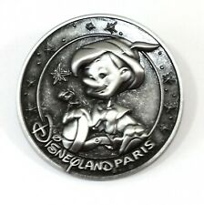 Disney Pin Trading Pinocchio Jiminy Cricket Disneyland Paris Pewter Coin Style