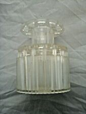 Vintage Clear Plastic Round Ribbed 2 Tier flower Frog England