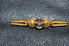 *Brosche, Goldbrosche, Gold 585, mit Brillant,ca.0,30, Handarbeit, TOP*