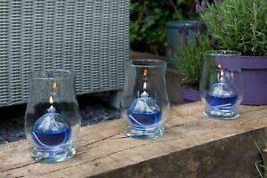 3 x Indoor or Garden Oil Lamps for use with Smokeless,Odourless Lamp Oil