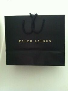 """POLO RALPH LAUREN SHOPPING BAG IN PRISTINE CONDITION SIZE: 9 1/2""""X 8""""X 4 3/4"""""""