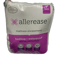 AllerEase Allergy & Bedbug Protection Zippered Mattress Protector Twin Bed Size