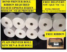 100. 76 x 76 1 PLY PRINTER ROLLS ( KITCHEN & BAR ROLLS  )
