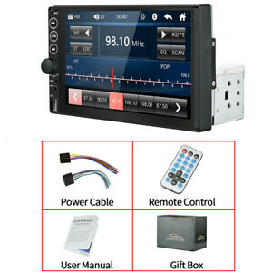 Single 1DIN 7in TFT Touch Screen Car Radio Bluetooth USB FM TF RCA MP5 Player