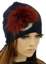 NEW FENDI LADIES LUXURY  CURRENT MONSTER WOOL BEANIE HAT W/FUR ONE SIZE