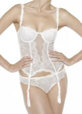 Chantelle Eternelle Basque Corset Ivory Padded Strapless Suspenders Wedding Lace