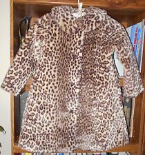 AMERICAN GIRL BITTY BABY CHOCOLATE CHERRY FAUX LEOPARD FUR COAT Lrg 5 6 NWOT #2