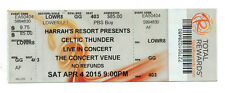 Celtic Thunder April 4, 2015 Atlantic City 1 Untorn Ticket