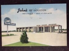 John's Of Houston, A Specialty Of The House Fine Steaks, Houston, TX - 1955