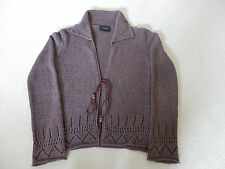 Principles size 12/14 collared brown lace cardigan in excellent condition