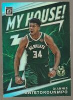 Giannis Antetokoumnpo 2019-20 Donruss Optic My House Silver Holo Prizm Bucks