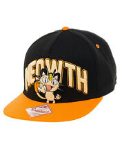 Officiel pokemon meowth orange & noir casquette réglable * brand new *