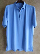 New listing Peter Millar Summer Comfort XXL Blue Solid Golf Mens Polo Shirt