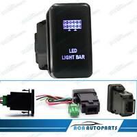 Blue LED Light Bar Push Switch For Toyota Landcruiser 100 Series 1998-2007