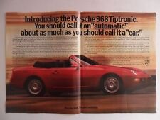 1992 Print Ad Porsche 968 Tiptronic Sportscar Car Automobile