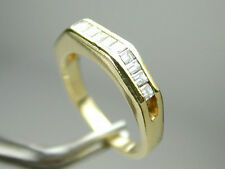 1385 Solid 18k Yellow 100% Gold @0.78ct TW  13 Baguette Diamonds Sz 5 1/4-5 1/2