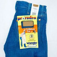 Men's Wrangler Jeans Cowboy Cut 13MWZ Original Fit Rigid Blue Denim Bootcut New
