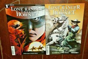 The Lone Ranger/Green Hornet #1 & #2, (2016, Dynamite): Free Shipping!