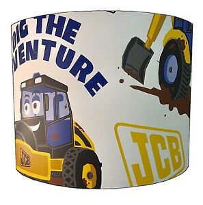 JCB Lampshades Ideal To Match JCB Wallpaper, JCB Quilt Covers & JCB Wall Decals.
