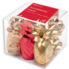 Emballages et paquets cadeaux dorés pour Noël