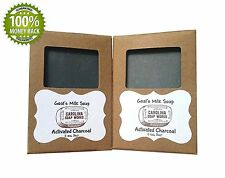 Best All Natural Handmade Activated Coconut Charcoal Goat Milk Soap, Made With 2