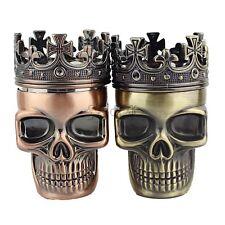 New King Skull Metal Tobacco Herb Spice Grinder 3 Piece Crusher Hand Muller
