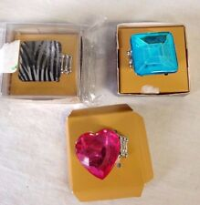 ROUTE 66 Costume Fashion Statement Rings LOT of 3 Rings