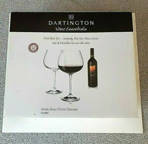 Dartington Wine & Bar Essentials - Wide Bowl Wine Glasses - Set of 2