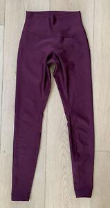 alo Yoga Leggings Pants, SMALL, Maroon Purple, Women's, 28 In Inseam
