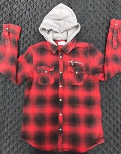 Boys Thick Lumberjack Hooded Shirt Age 13-14 Years
