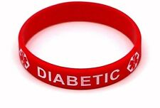 DIABETIC  MEDICAL ALERT BRACELET ID EMERGENCY WRISTBAND, DIABETIC  BRACELET