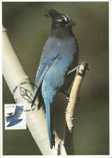 Steller's Jay Bird Fdc Canada Maximum Card