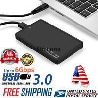 2 TB Portable External Hard Drive Enciosure USB3.0 SATA High Speed Black USA