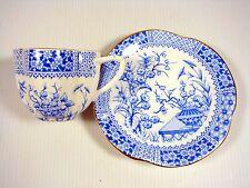 Antique Furnivals Blue White Tea Cup & Saucer Old Chelsea RD 128 563 kakiemon