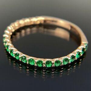 14k Emerald Eternity Band Rose Gold Ring Size 8.5