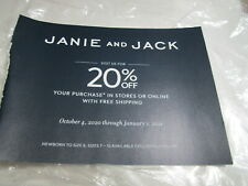 Janie & Jack coupon code 20% off entire order Exp. 01/01/2021 (store/on line)