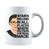 Women Belong In All Places Ruth Bader Ginsburg RBG Double-Sided Coffee Mug