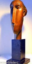 Bronze signiert Amedeo Modigliani Bronzefiguren Bronzeskulpturen Bronzebüste