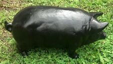 Black Pig Large Cast Iron Cabin Lodge Home Garage Man Cave Farm Barn Shed Decor