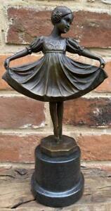 Art Deco Ballet Bronze Ballerina Girl 'Lieselotte' after Ferdinand Preiss