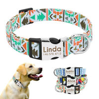 Dog Collar Customized Nylon Dog Collar Chihuahua Bulldog Collar Engrave Name ID