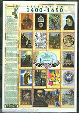 Guinea Imperforated Millennium Stories The 1400/1450 Sheet Sc#1824 Mint Nh