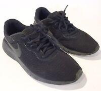 Nike Tanjun (GS) Black/Black Grade School Kids Running Shoes 818381-001 YOUTH 7Y