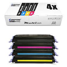 4x Eurotone ECO Toner für HP LaserJet CP-2600 Color 2605-DN 2600-N CM-1017-MFP