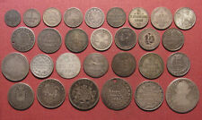 Mixed Lot Of (29) World Silver Coins - Variety Of Countries & States, Pre-1900!