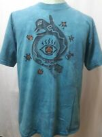 Vintage 1997 Dagoli Tie Dye T-Shirt Native Tribal Cave Art Mens Size Medium VGC