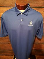 Nike Dri Fit Mens Large Blue Short Sleeve Golf Polo Shirt