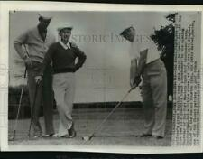 1954 Press Photo Dave Douglas, Jerry Barber & Ted Kroll, Western Open Golf, Ohio