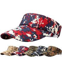 Adjustable Tennis Hat Summer Baseball Cap Camouflage Empty Top Sun Golf Hat